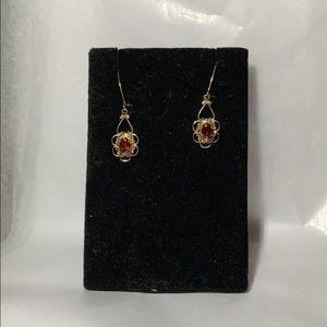 America's Leading Jeweler Ruby gold earrings